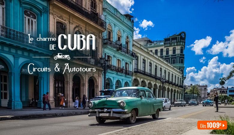 Le charme de Cuba, circuits et autotours