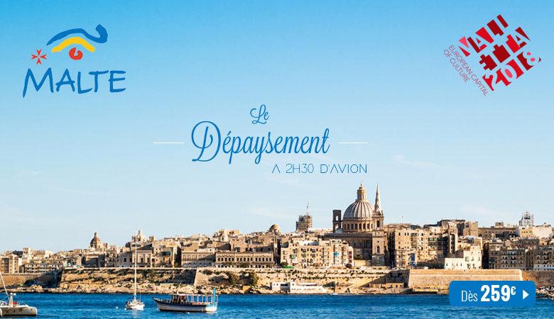Malte : le dépaysement à 2h30 d'avion !