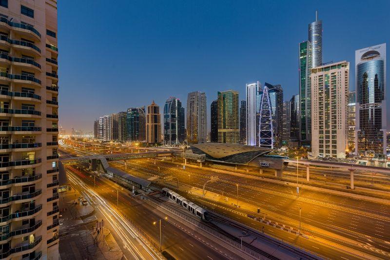 MPM - Sheikh Zayed Road View - Dusk
