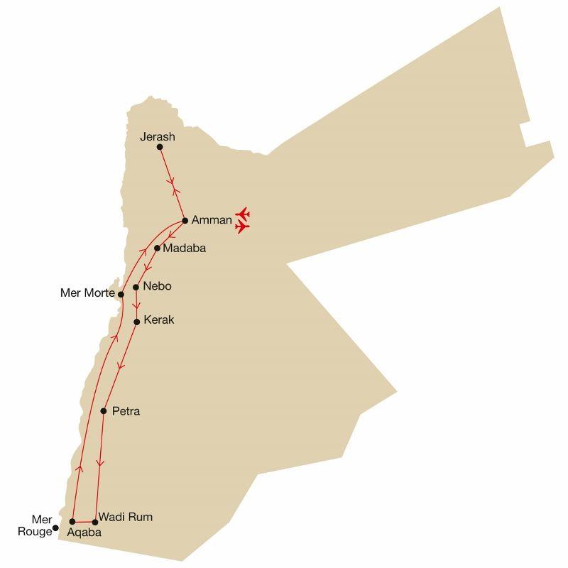 Jordanie - Circuit Les Secrets de Jordanie et Escapade à la Mer Morte