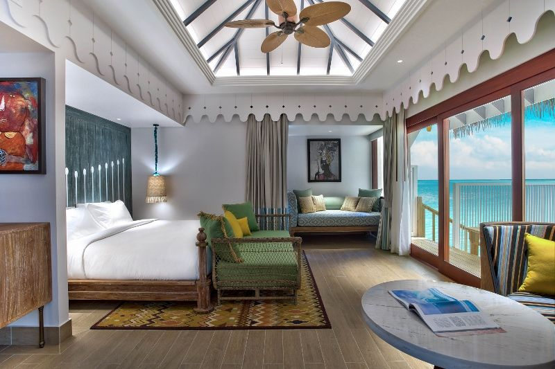 SAii Lagoon Maldives - 2br Overwater Villa bedroom 1