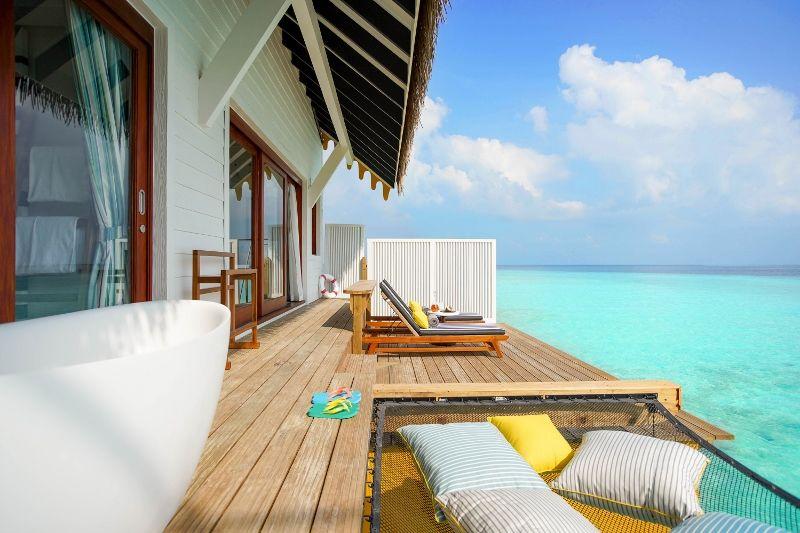 SAii Lagoon Maldives - Overwater Villa outdoor deck 1