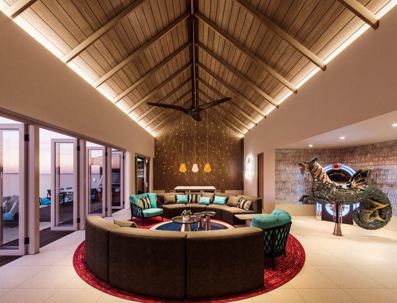 Hard Rock Hotel Maldives - Rock Star Villa lounge
