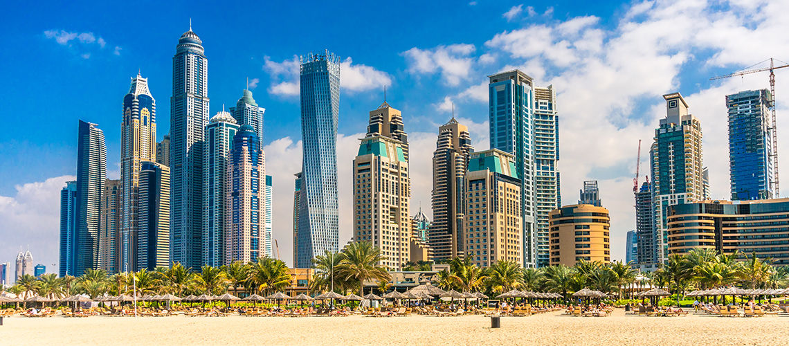 De Dubai à Abu Dhabi - Extension Maurice Maritim Crystals Beach  4* Nl