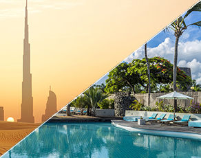 De Dubai à Abu Dhabi & Extension Kappa Club Solana Beach Mauritius 4*