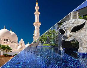 Circuit de dubai à abu dhabi 3* avec extension hôtel kappa club thai beach resort 5*