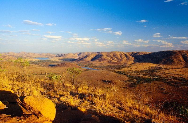 sur les terres d'afrique du sud