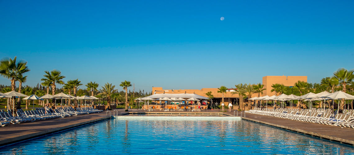 Piscine villes imperiales extension club coralia marrakech